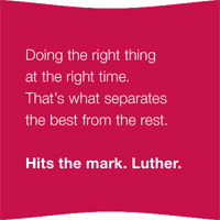 Hit the mark. Luther.
